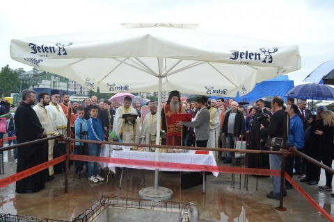 Освећење камена темељца 12. мај 2016 г.
